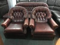 🎅 vintage chesterfield 3 11 sofa set