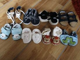 baby shoes bundle - various sizes 0-12 months +