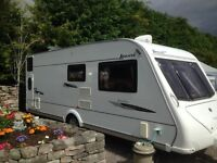 Elddis Avante Club 6 berth, single axle caravan & full size awning, fixed bunk beds, exc cond