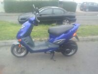 Scooter/moped 125cc 4/stroke 12months mot very low mileage VGC