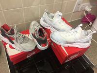 Nike Air Huarache Utility Triple White (Size 12) & Nike Air Huarache Silver (Size 11) (£120 ONO)