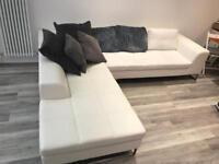 White leather corner Sofa £200