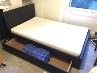 Small double bed and Memory foam mattress - less than 1 year from new