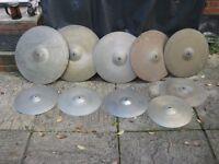 Cymbals - A Set of Vintage Zyn Cymbals - Rides, Crashes, Hi Hats - Will Split