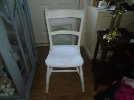 woden painted chair