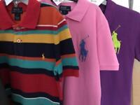 3 Ralph Lauren Polo Tops - Age 7-8