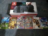 Nintendo Switch Grey + 6 Game BUNDLE and EXTRAS