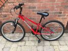 Children's red/ black  Apollo XG bicycle