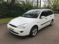 FORD FOCUS LX TDI ESTATE 2001 MOTD WHITE 1.8 TDCI BARGAIM