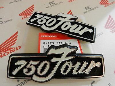 Honda CB 750 Four K2-K6 emblem sidecover battery and oil tank set orange new