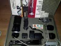 Asahi pentax spotmatic camera set