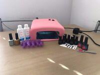 Gel Nail Polish Manicure Complete DIY Starter Kit Set
