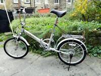 Folding Bike large and rare suspension,excellent ,free accessories
