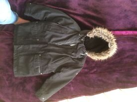 Craghoppers mayham jacket / coat waterproof with Sherpa lining 7-8