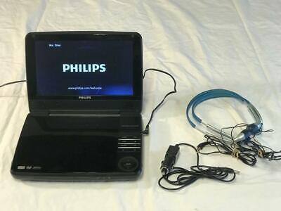 """Used PHILIPS 9"""" Portable DVD Stereo Player PET941D-37, 9"""" TFT LCD, w/warranty"""