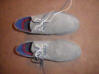 PAIR OF TED BAKER SHOES, EXCELLANT CONDITION, GREY SUEDE, BROGUE LOOK, SIZE 42, NEARLY NEW....