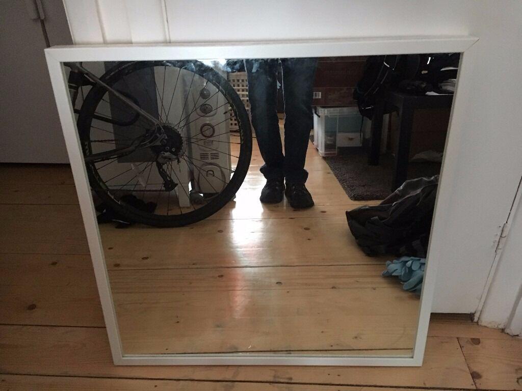 Mirror nissedal white in camden london gumtree for Miroir nissedal