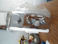 chrome vertical metro 3 hole thermostatic valve brand new still in box for shower