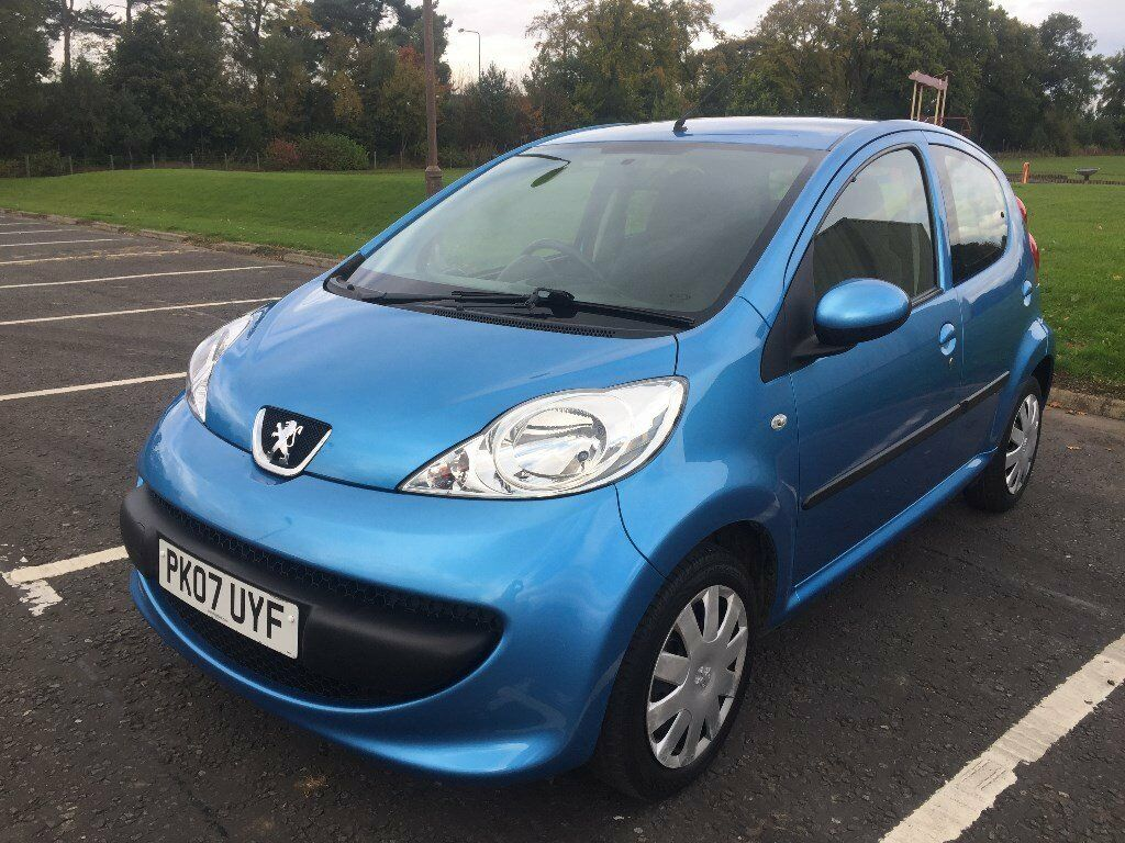 Peugeot 107 1.0 Urban, 2007, Blue, 5 door, very low mileage