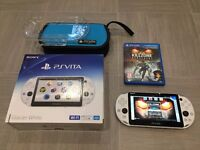 Sony PS Vita Slim White Console. Very Rare. 16GB Memory Card. Killzone Game. Like New. All Boxed.