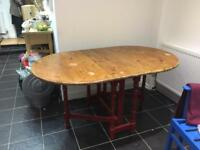 Shabby chic folding table very Hipster! LAST PRICE MUST GO £50