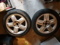 Alloy Wheels x 2 and great tyres