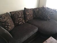 Little brown corner couch