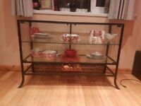 Home Furniture, Glass Display Cabinet, Glass Display Stand + Other Items Pictured