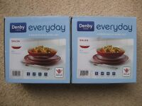 Denby Everyday 4 Piece Pasta Bowl Set x 2 - New in boxes - Salsa