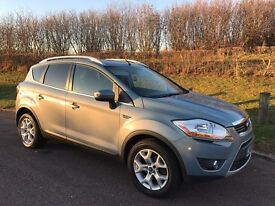 08 FORD KUGA 2.0 TDCI ZETEC 4wd, HALF LEATHER, SAT NAV, PRIVACY WINDOWS, VERY CLEAN FSH