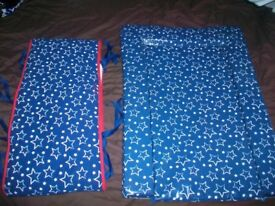 Blue Stars Baby Changing Mat & Blue Stars Cot Bumper by Carla