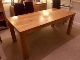 Solid Oak Dining Table 180x90cm