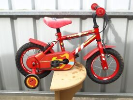 Childs Bicycle Red with stabilisers suit 3 year old Free Delivery in Taunton