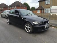 BMW + 1 SERIES + 116D + SPORT + 2009 +09 +5 DR BLACK + 6 SPPED + NEEDS ATTENTION