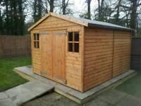 Top quality workshop 10ft/12ft timber shed BARGAIN!
