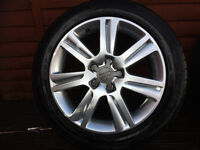 Audi A4 Alloy Wheels (Genuine )and 2 road legal tyres