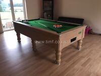 SUPREME PRINCE POOL/SNOOKER TABLE 8 BY 4/6 (new ) IN STOCK