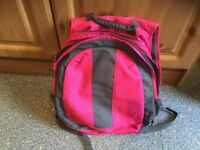 MOUNTAIN LIFE rucksack. IMMACULATE CLEAN CONDITION. 2 LARGE zipper pockets. Key holder, audio hole.