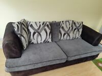 3 SEATER DFS SOFA AND LARGE SWIVEL CHAIR SET