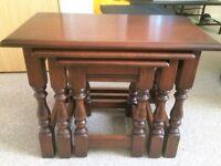 Mahogany tables.