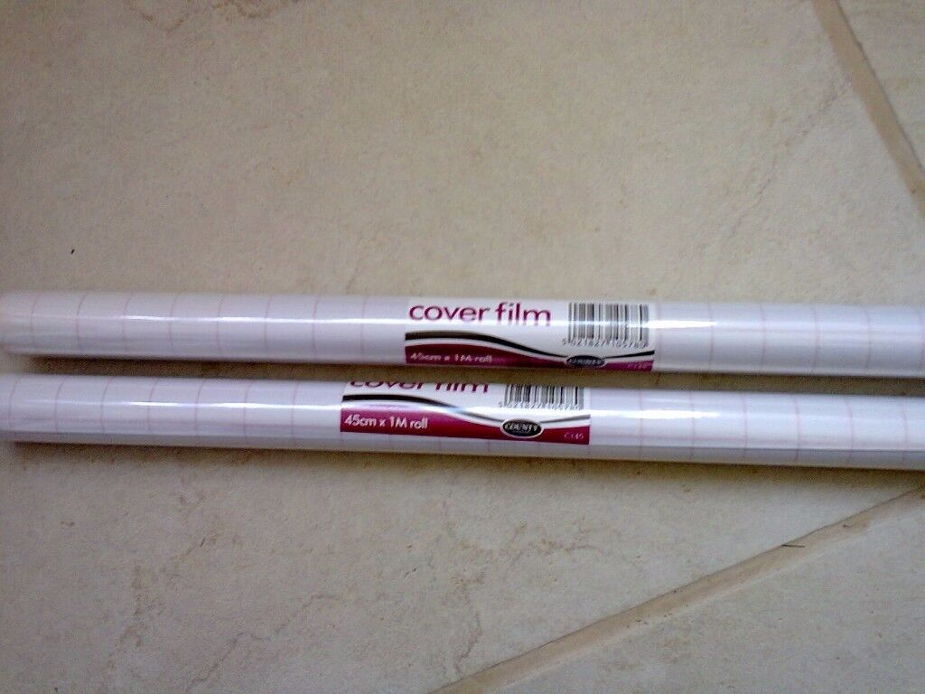 Clear film covering......for books etc.....both for only £1
