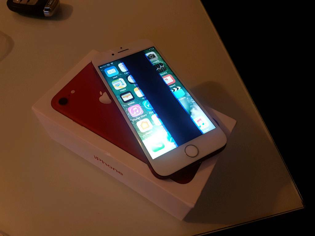 iphone 128gb productin Brandon, SuffolkGumtree - iphone 7 128gb product..locked on ee network lcd screen needs change still function comes with box and  charger
