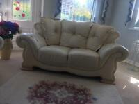 Leather suite settee couch sofa 3piece 2seater and 2 chairs