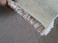 Thick hessian backed carpet piece