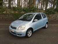 2005 TOYOTA YARIS BLUE 1.3 ** 2 OWNERS ** 59000 MILES