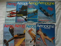 Job Lot: 83 Aeroplane Monthly Magazines 1973-1979