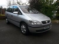 2002 VAUXHALL ZAFIRA COMFORT 16V SILVER 7 SEATER