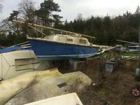 16ft sailing boat yacht project with trailer
