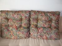 Pair of large cushions