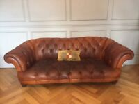 Tetrad Oskar 3seat sofa in tan good used condition